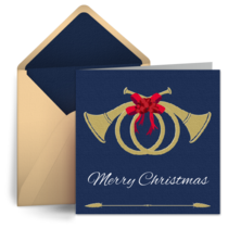 Christmas Horn card image
