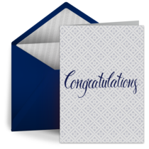 Simple Congratulations card image
