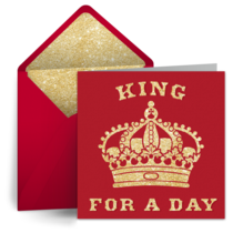 King for a Day card image