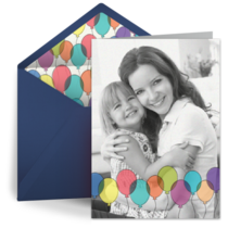 Birthday Balloons Photo card image