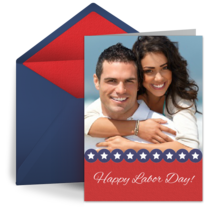 Patriotic Labor Day Photo card image