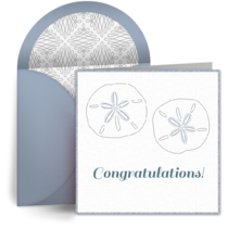 Wedding Sand Dollar card image