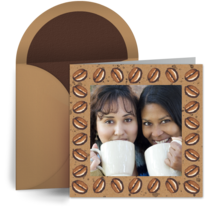 Coffee Bean Photo Border card image