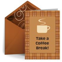 Warm Coffee Greeting card image
