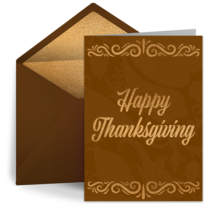 Vintage Thanksgiving card image