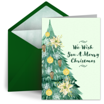 Christmas Tree Watercolor card image