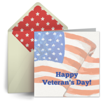 American Flags card image