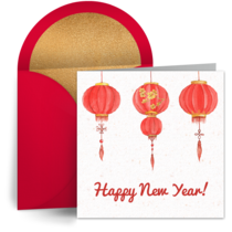 New Year Lanterns card image