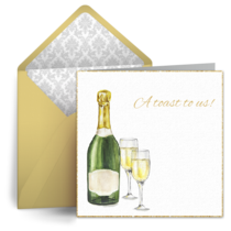 Anniversary Champagne card image