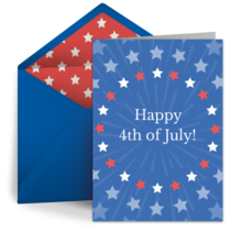 Fourth of July Fireworks card image