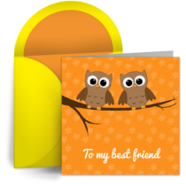 Owl Friends card image