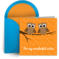 Sister Owls card image