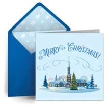 Christmas Village card image