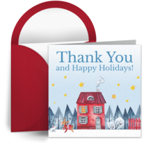 Winter Thank You card image