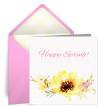 Cheerful Flowers card image