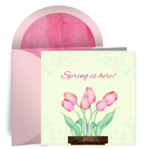 Spring Tulips card image