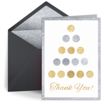 Foil Thank You Dots card image