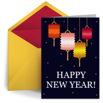 Simple Chinese Lanterns card image
