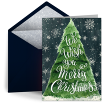Merry Christmas Tree card image