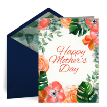 Mother's Day Bouquet card image