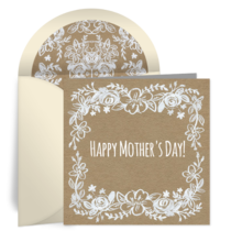 Rustic Floral Mother's Day card image