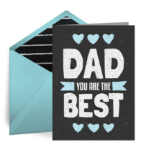 Father's Day Chalkboard card image