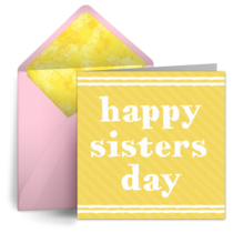 Sisters Day Stripes card image