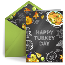 Thanksgiving Dinner Chalkboard card image