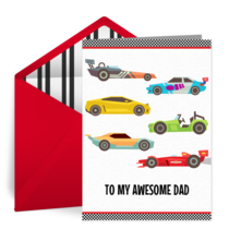 Father's Day Race card image
