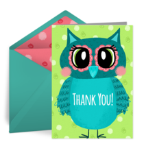 Whimsical Owl card image