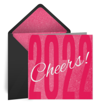 Pink 2020 Cheers card image