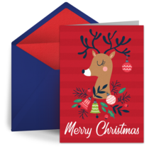 Fancy Reindeer card image