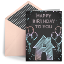 Her Birthday at Home card image