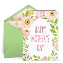 Mother's Spring Blossoms card image