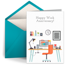 Happy Work Anniversary card image