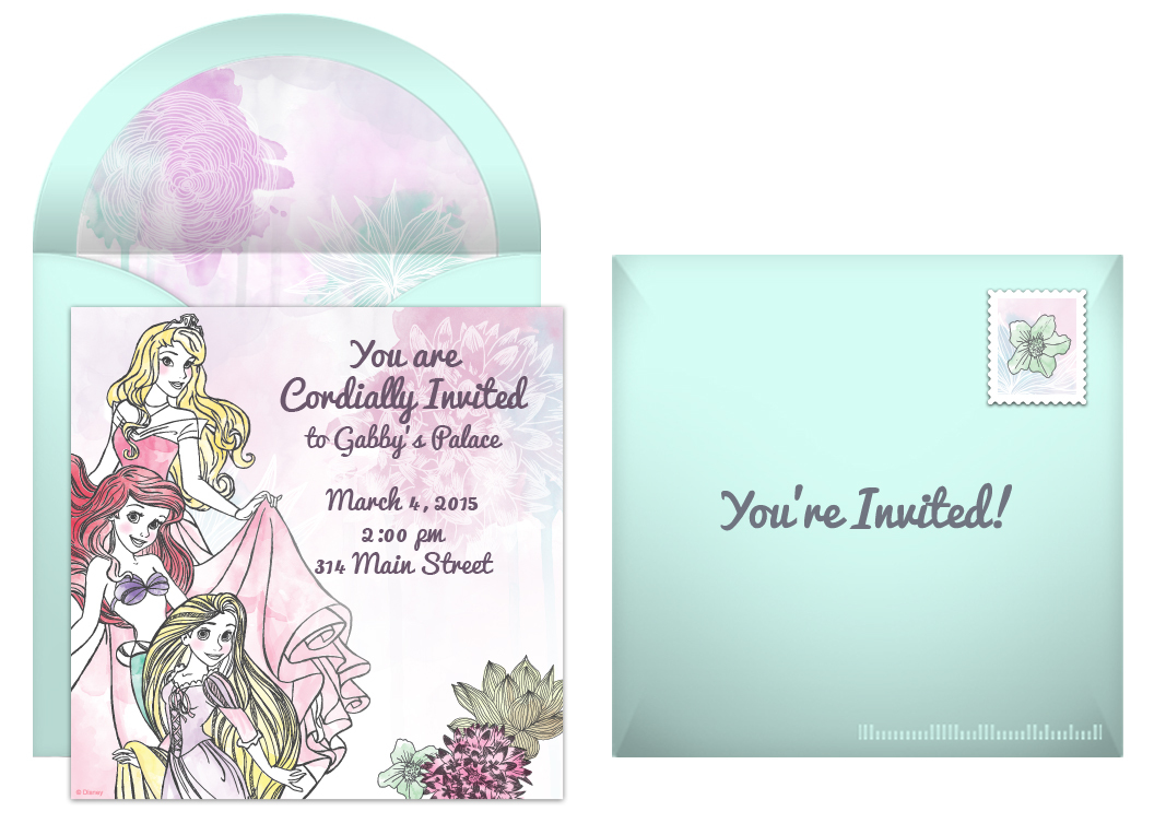 free disney princess online invitation