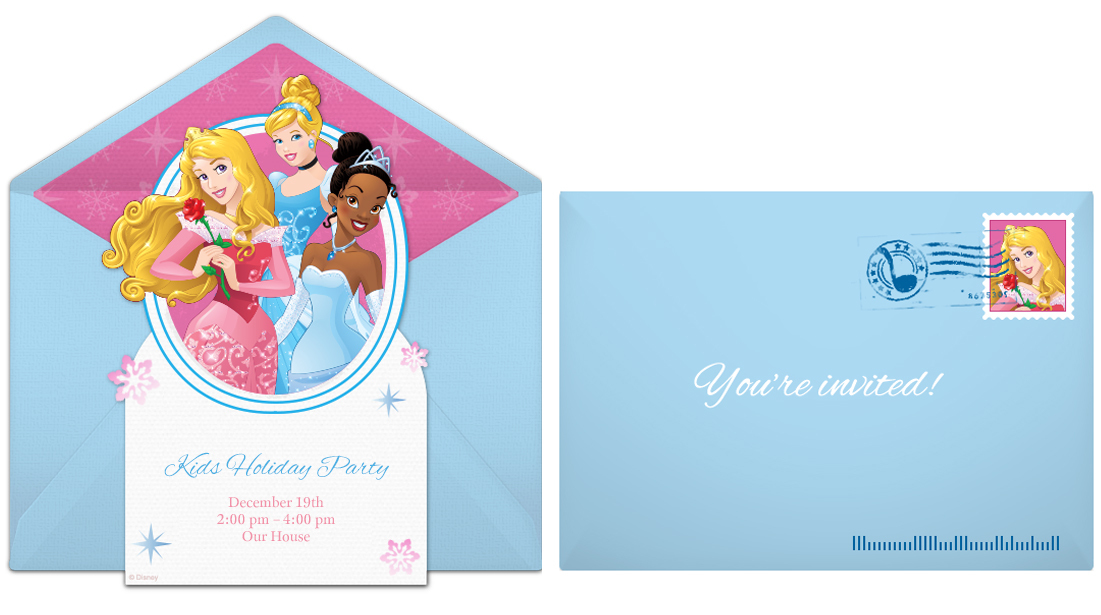 Free Disney Princess Winter Online Invitation