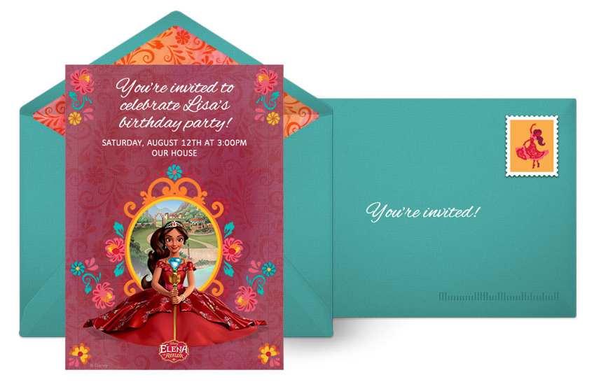 Free Elena of Avalor Online Invitations