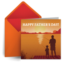 Father's Day Fishing card image