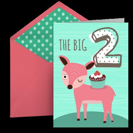 2nd Birthday Friends Free 2nd Birthday Ecard Greeting Card