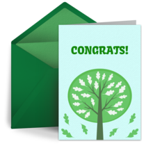 Congratulations Growing Tree card image