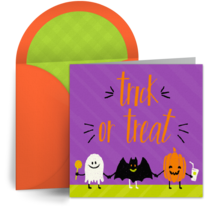 Halloween Trick or Treaters card image