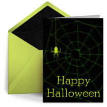 Green Spider Web card image