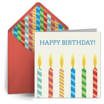 Birthday Candles for Him card image
