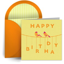 Birthday Bird card image