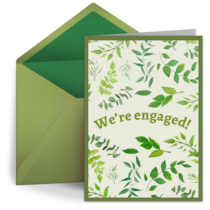 Engagement Floral Pattern card image