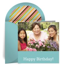 Kids Birthday Photo card image