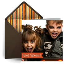 Halloween Banner Photo card image