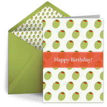 Happy Birthday Olives card image