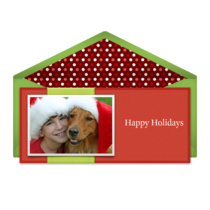 Holiday Photo Ribbon card image